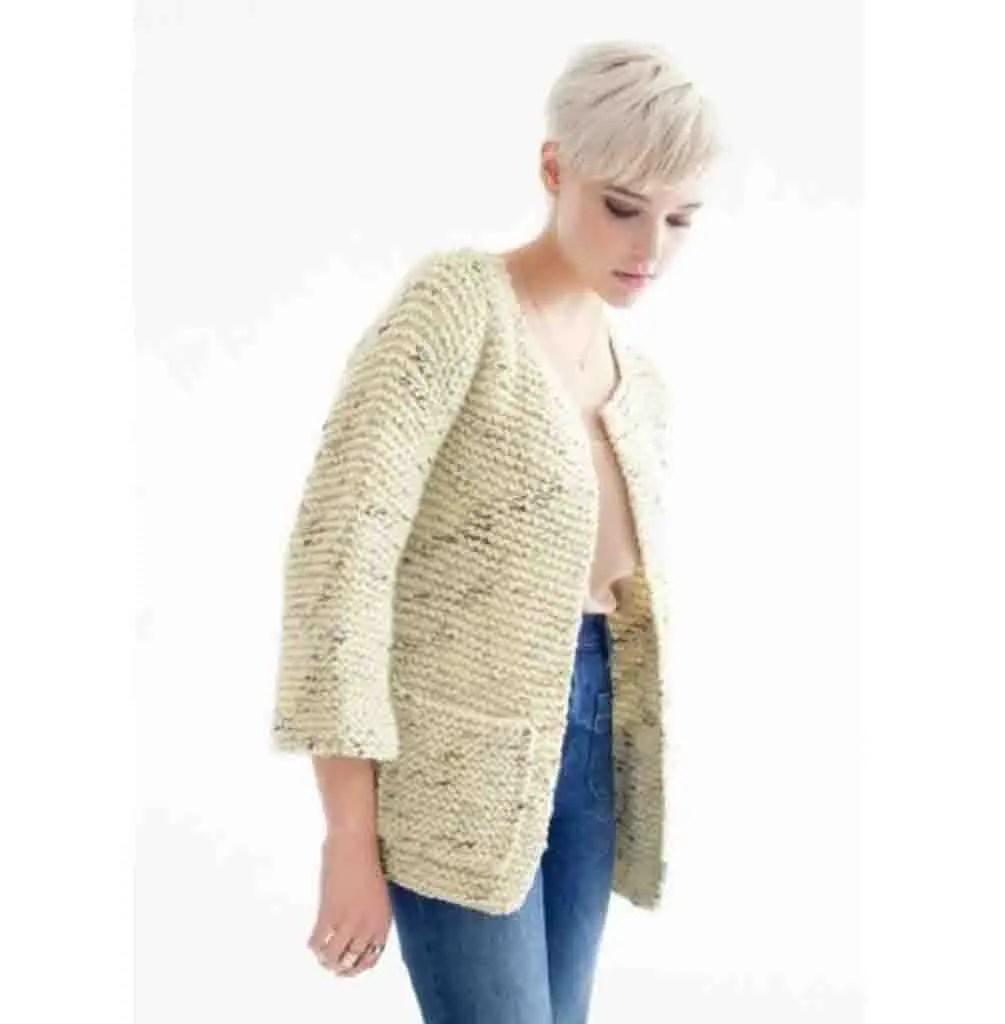 Comment tricoter rapidement un cardigan femme