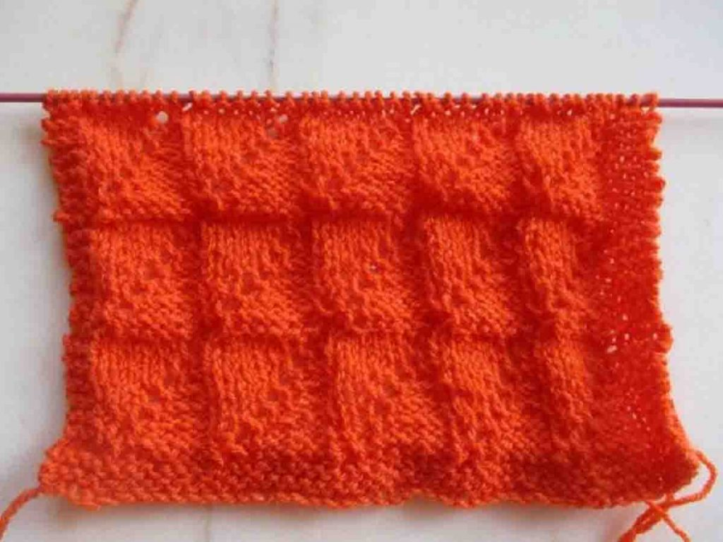 Point tricot double face facile