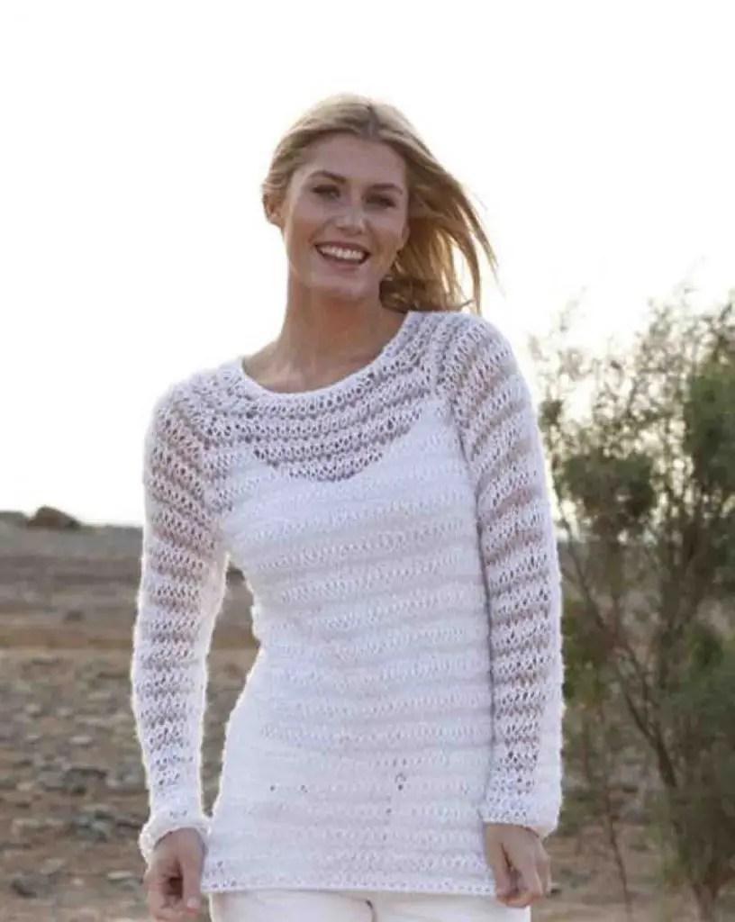 Pull d'été femme à tricoter facilement