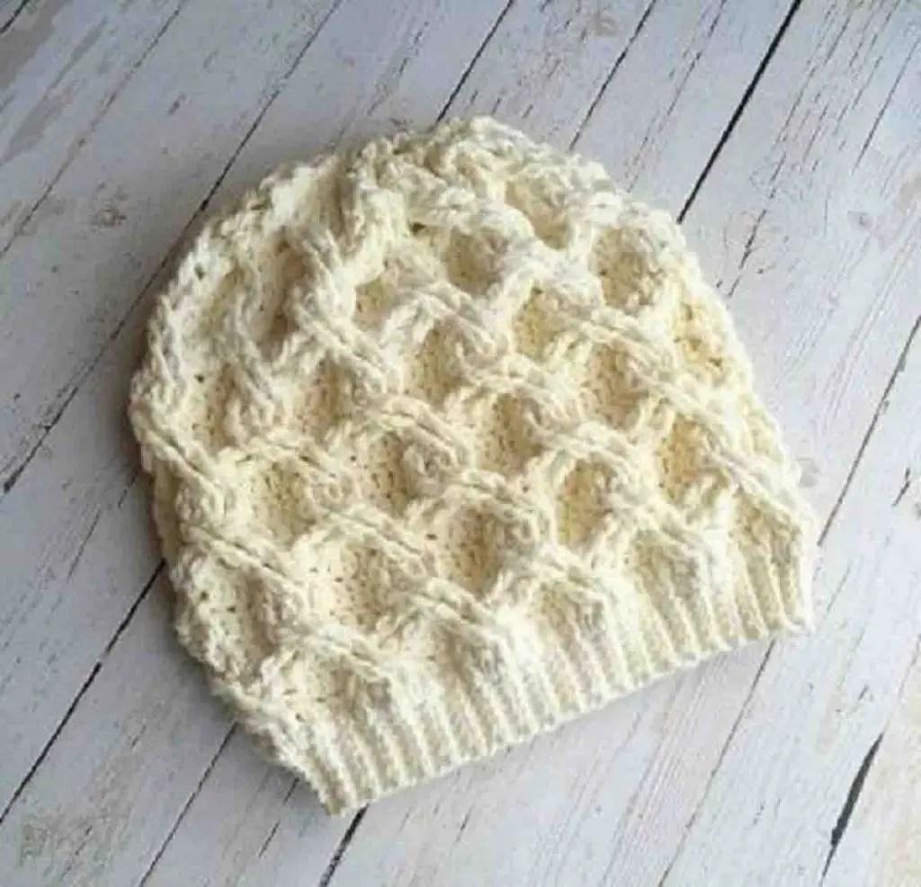 Un bonnet au crochet hiver