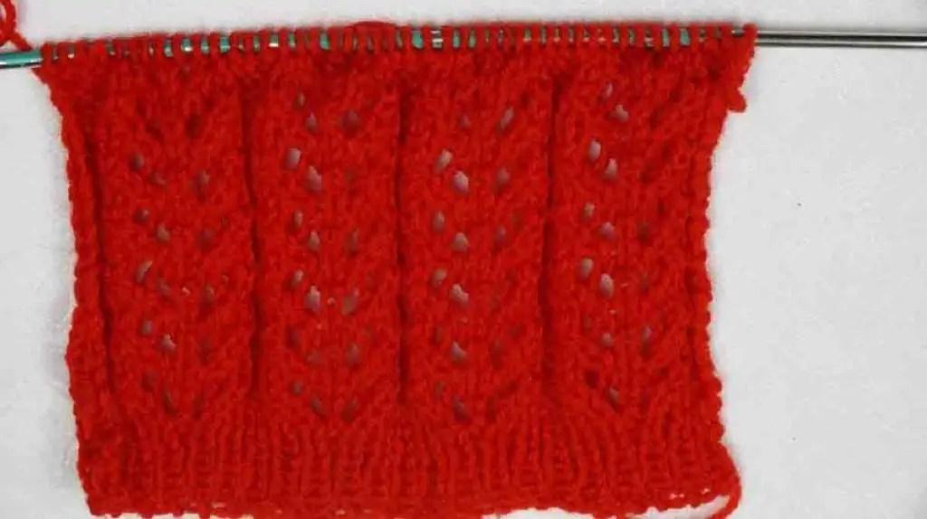 Point fantaisie ajouré tricot facile