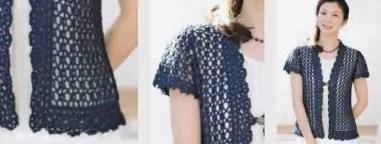 Cardigan femme crochet modèle gratuit