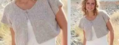 Gilet pour la plage au tricot