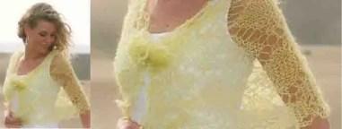 Modèle châle tricot dentelle