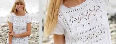 tricoter un joli pull femme été
