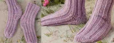 Chaussette simple tricot
