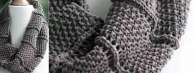 Modèle de snood tricot avec explication
