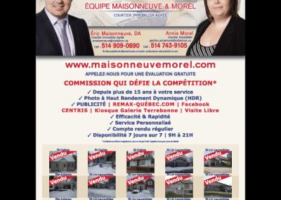 Annie Morel, Éric Maisonneuve
