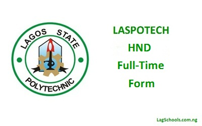 Laspotech HND Full-Time Form now Available - 2017/2018