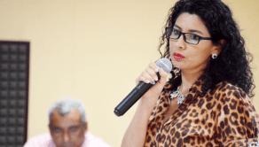 Eva Martín, rectora del Colegio Colombo Árabe de Maicao.