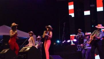 Las Evas durante su presentación en el Festival
