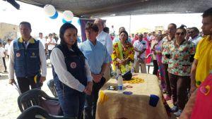 Carlos Iván Márquez Pérez, director General de la Unidad Nacional para la Gestión del Riesgo de Desastres, le hizo entrega al Departamento un puesto de salud y centro de acopio que beneficiará a las comunidades de la Alta Guajira.