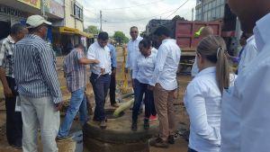 Acompañado de diferentes funcionarios, el Alcalde cumplió con el recorrido por diferentes obras de infraestructura.