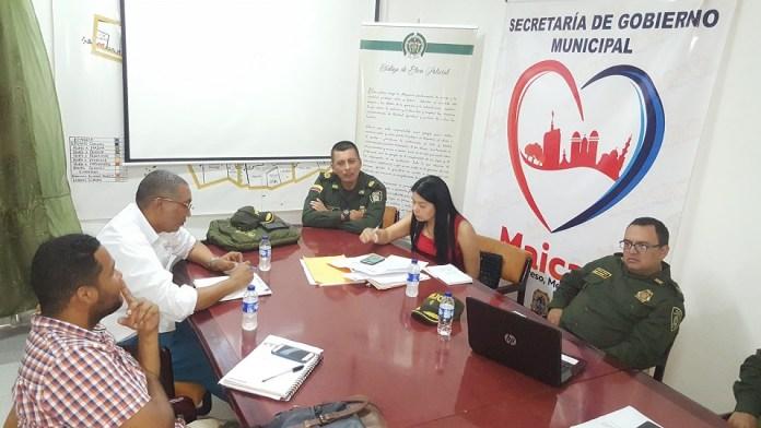 El alcalde José Carlos Molina y las autoridades de policía de la ciudad y el departamento, pasan revista permanentemente a al tema de la inseguridad en la frontera.