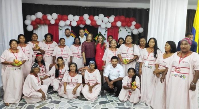 Este fue el grupo de parteras que concluyo con el proyecto de aprendizaje y perfeccionamiento de su labor en las comunidades apartadas de Riohacha y Manaure.