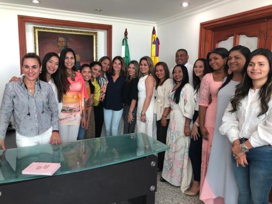 La Vicepresidenta, le solicitó al gobernador de La Guajira que se cree la secretaria de La Mujer, para el Departamento y para el Distrito de Riohacha.