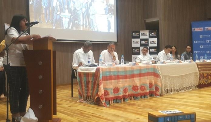 Magistrados del Consejo Nacional Electoral y funcionarios de la Registraduría en La Guajira, asistieron a la socialización sobre cómo prevenir y advertir sobre el delito de la trashumancia electoral.