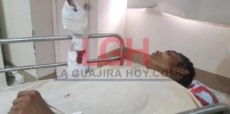 El venezolano Way Paramani Romero Villar se recupera de los golpes y heridas que le produjeron varias personas por negarse a darles un pedazo de pan.