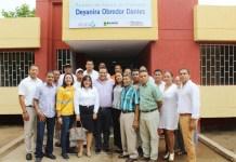Aspecto de la inauguración del puesto de salud de Papayal, Deyanira Obredor Danies.