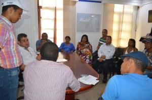 Aspecto del Consejo comunitario que realizó el Alcalde de Riohacha en su despacho.