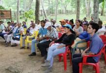 Los campesinos acudieron a la firma del convenio que realizaron conjuntamente CorpoGuajira y Pnud.