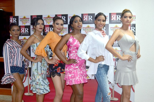 Modelos Jhary Pinto, Yariannis Pimienta, Lainile Meza, Sara López, Marcela Pérez y Alicia Vargas.