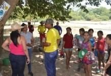 Dialogando con los líderes de los corregimiento de Tigreras y Choles aparece la gestora social Marisol García Pimienta, en la organización y recuperación del río Choles