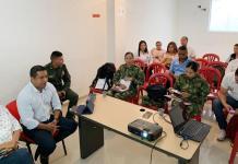 La administración municipal de Uribia liderando el Segundo Comité de Justicia Transicional.