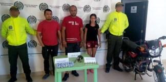 Los capturados cuando eran mostrados para las cámaras de los diferentes medios de comunicación.