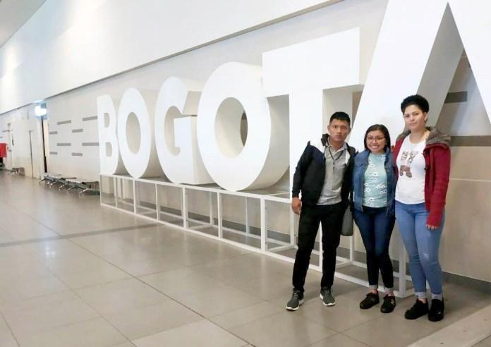 Los riohacheros cuando se encontraban en el aeropuerto el Dorado en la Capital de la República.
