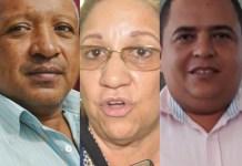 Blas Quintero Epieyú, Soraya Escobar, Carlos Mario Cabana Bolívar.