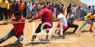 Aspecto de las competencias que se desarrollaron en el marco de la fiesta del Día de la Gente de Mar.