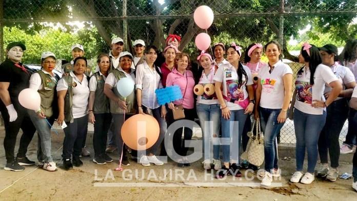 Con caminata se conmemoró la semana de la lactancia materna en San Juan del Cesar.