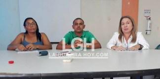 De izquierda a derecha aparece Viviana Medina, secretaria del despacho de la Secretaría de Gobierno; Antony Barros, personero delegado y Yolanda Orduz Herrera, registradora delegada para Maicao.
