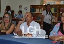 El director de Comfaguajira Luis Eduardo Medina Romero, dijo que está listo para interartes 2019, quien es acompañado por sus más inmediatas colaboradoras Catherine Mejía Ordúz y Yamile Robles.
