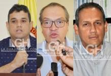 Juan Carlos Suaza, alcalde de Riohacha, Fernando Carrillo Flórez, Procurador General de la Nación, William García, gerente de Asaa.