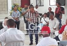 Rosendo Romero, cuando se dirigía a los presentes en Distracción.