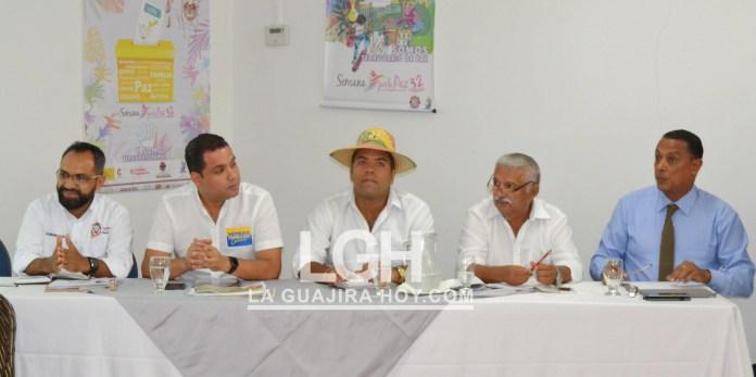 Aspecto de la participación de los cinco de seis candidatos a la gobernación de La Guajira en diálogos para la Paz.