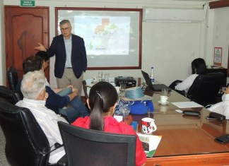 Aspecto de la socialización del proyecto que se realizó en el despacho del gobernador de parte de Ecopetrol.
