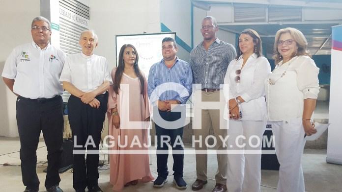 Directivo de la Chevron, junto al Gobernador encargado de La Guajira y monseñor Héctor Salah Zuleta, dieron inicio en La Guajira, al Banco de Alimentos.