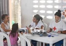 Una brigada en donde se atendieron más 340 personas se realizó en el pueblo de Pelechua, corregimiento de Tigreras, distrito de Riohacha.