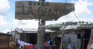 El barrio La Bendición, fue perjudicado con la excesiva agua que les inundó el barrio.