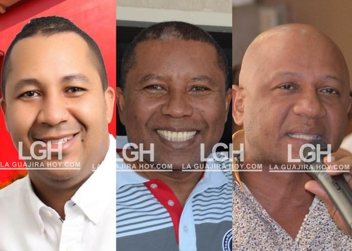 José Ramiro Bermúdez, Wilder Navarro Quintero y Blas Quintero Mendoza.