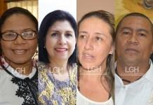 Nubia Socarras, Alba Lucia Marín Villada, Grisela Monroy Hernández y Aloima Miranda.