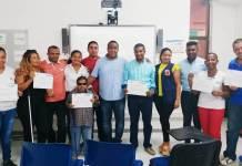 Aspecto de los integrantes del nuevo Comité Distrital de Discapacidad.