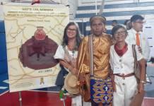 Aspecto de la delegación de la Universidad de La Guajira, integrada por dos estudiantes y docente, quienes asistieron a Brasil.