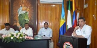 El alcalde de Riohacha, Juan Carlos Suaza Movil, presentó al Concejo Cuatro proyectos de acuerdo dentro de los que se destaca principalmente el presupuesto de ingresos y gastos para la vigencia fiscal 2020.