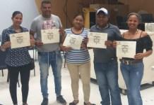 Estos son los nuevos ediles del corregimiento de Paraguachón: José Imitola, Heiner Jiménez, Ludis Alfaro, Yolima Orozco y Liliana Púa.