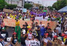 Los pobladores del municipio de Manaure, también protestaron.