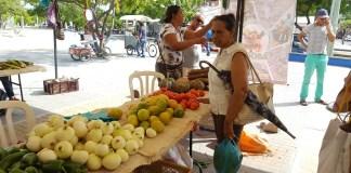 Mucha acogida tuvieron estas vez los productos que se pusieron a la venta de los campesinos del Distrito.